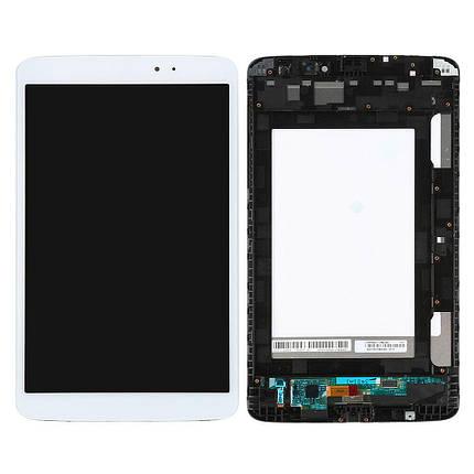 Дисплей (экран) для планшета LG V500 G Pad 8.3 с сенсором (тачскрином) и рамкой белый, фото 2