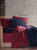 Комплект постельного белья First Choice Lacirvet Bordo сатин 220-200 см бордовый, фото 1