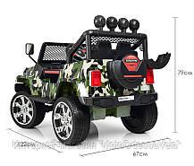 Детский электромобиль Джип M 3237EBLR-18 комуфляж, фото 3