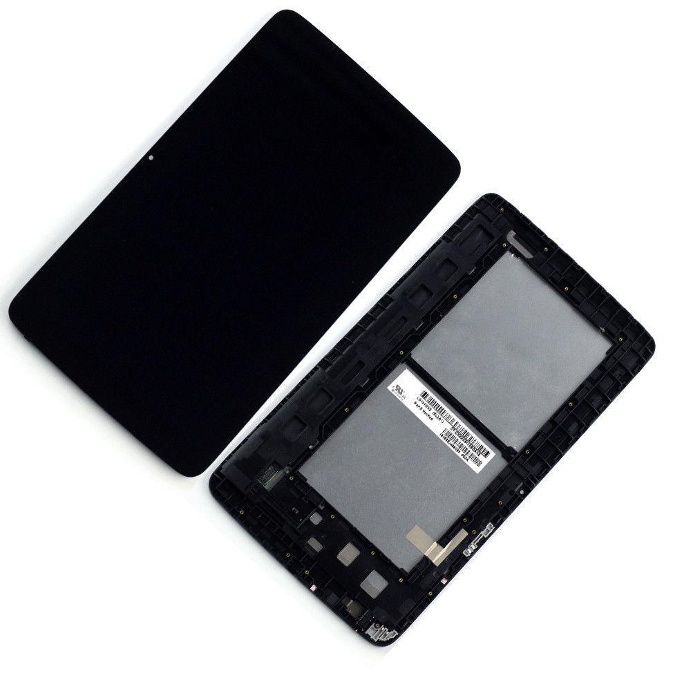 Дисплей (экран) для планшета LG V700 G Pad 10.1 с сенсором (тачскрином) и рамкой черный