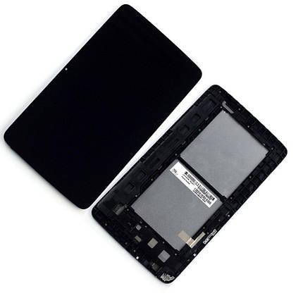 Дисплей (экран) для планшета LG V700 G Pad 10.1 с сенсором (тачскрином) и рамкой черный, фото 2