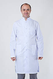 Белый мужской медицинский халат 3121 ( коттон 40-52 р-р )