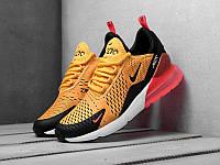 Мужские кроссовки Nike Air Max 270 Orange черно-оранжевые (Найк Аир Макс 270)