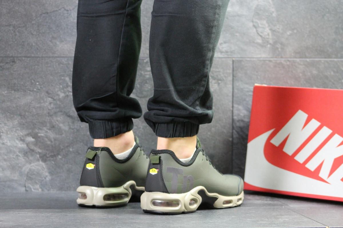c609934c Мужские кроссовки весенние темно зеленые Nike Air Max TN 7269 (реплика), ...