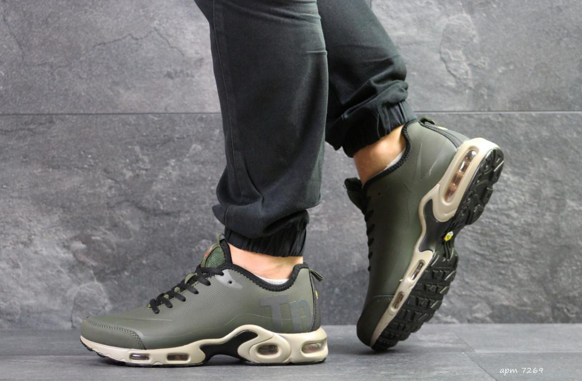 b8af18e8 ... Мужские кроссовки весенние темно зеленые Nike Air Max TN 7269  (реплика), ...