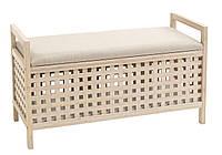 Банкетка с емкостью для хранения (Бамбук и МДФ)