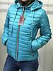 Весенняя женская куртка белая с капюшоном, фото 10
