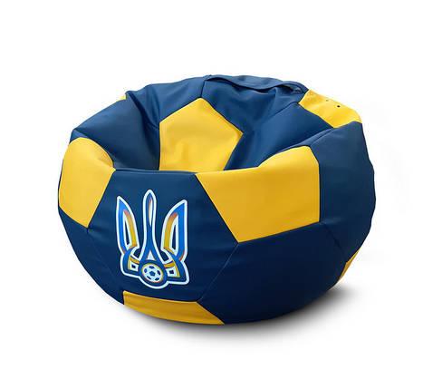 """Кресло мяч """"Сборная Украины"""" NEW Экокожа, фото 2"""