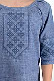 Элегантная блуза с этнической вышивкой , джинс, фото 5