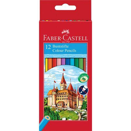"Кольорові олівці Faber Castell ""Замок і лицарі"" 120112 (12 цв.)"