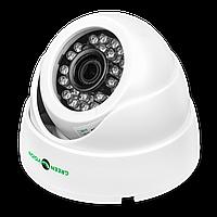 Гибридная купольная камера для внутренней установки GreenVision GV-051-GHD-G-DIA20-20 1080p, фото 1