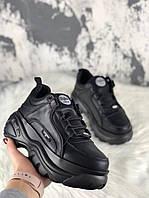 Женские кроссовки Buffalo London 1339 Black. Натуральная кожа, фото 1