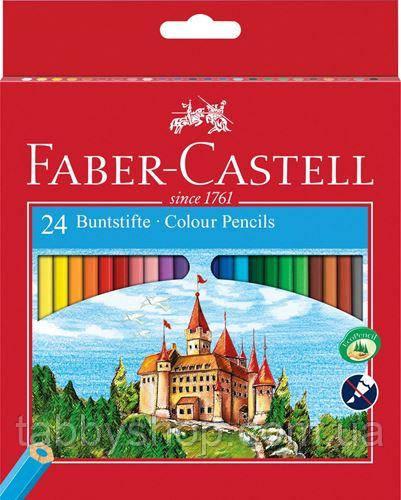 """Кольорові олівці Faber Castell """"Замок і лицарі"""" 120124 (24 кол.)"""