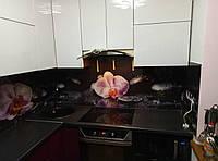 Стеклянная стеновая панель Орхидея