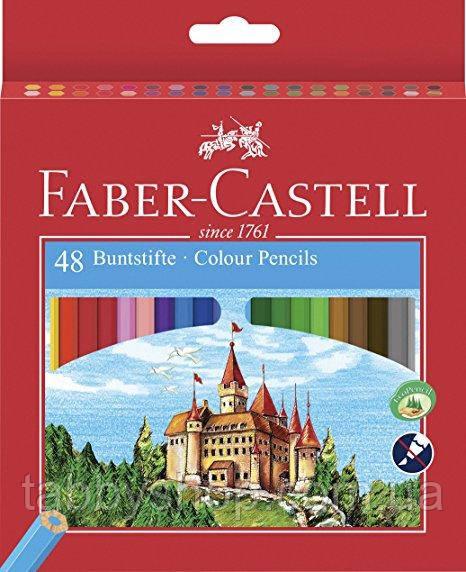 """Кольорові олівці Faber Castell """"Замок і лицарі"""" 120148 (48 кол.)"""