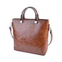 Коричневая сумка М61-22 деловая с масляным эффектом, фото 1