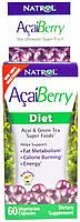 Жироспалювач Natrol AcaiBerry Diet, Acai & Green Tea Superfoods, 60 VCaps
