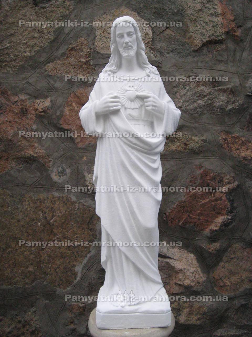 Скульптура из белого бетона на могилу  № 6
