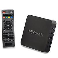 Смарт ТВ Приставка для Дома Android Mini PC SMART TV OTT TV BOX MXQ 4k Android ОЗУ 1GB HDD 8GB WiFI AirPlay