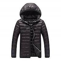 Куртка мужская демисезонная черного цвета 44-52р на синтепоне