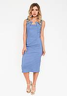 Восхитительное офисное платье-футляр Modniy Oazis синий 90262/3, фото 1