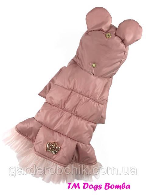 Пальто, куртка  для собаки с закрытым животом. Одежда для собак