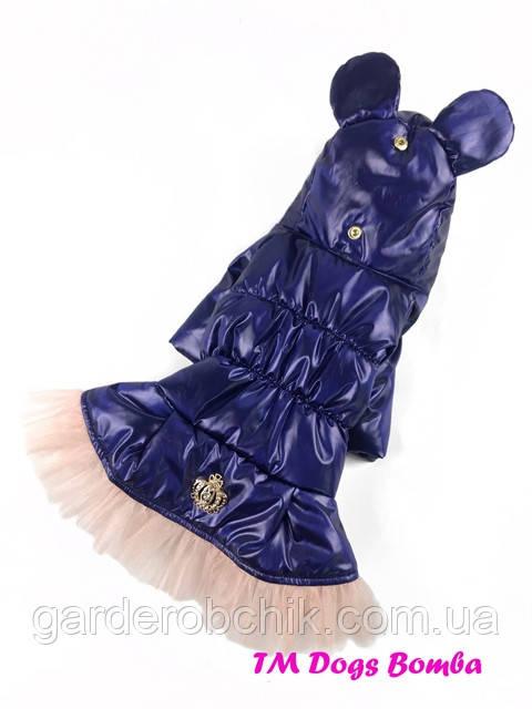 Пальто, куртка  для собаки с закрытым животом К-36. Одежда для собак