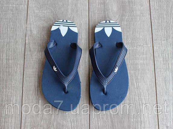 Вьетнамки мужские синие Adidas реплика 45р, фото 2