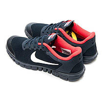 Мужские Кроссовки NIKE FREE 3.0 v2 Синий/красный, фото 3