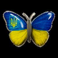 Значок бабочка с тризубом