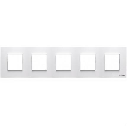 Рамка 5 постовая, белый цвет Zenit ABB NIESSEN N2275 BL