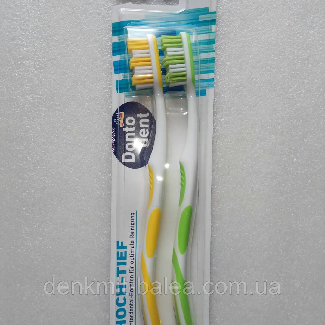 Зубная щетка средней жесткости Dontodent mittel 2 шт