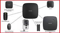 Комплект беспроводной сигнализации для квартиры студии + видеонаблюдение Ajax (Black)