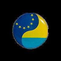 Значок Украина-ЕС круглый