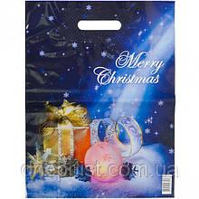 Пакет новогодний ламинированный с врезной ручкой, 40х30 см / Подарок