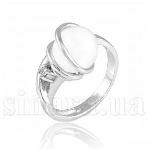 Кольцо из белого золота с жемчугом 6229