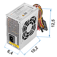 Блок живлення LogicPower MICRO MATX 400W, fan 8 см, 2 SATA, фото 1