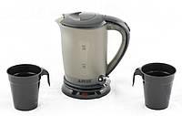 🔝 Чайник автомобильный, А-Плюс 0.5 л 12V, автомобильный электрический чайник, Черный, от прикуривателя | 🎁%🚚