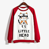 Джемпер LITTLE HERO  мужской красно+белый