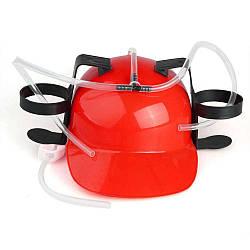 Шлем для пива красный