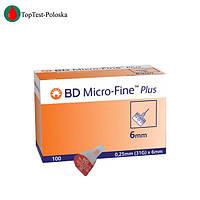 Голки для шприц-ручок Мікро Файн (Micro Fine) 6 мм 100 шт.