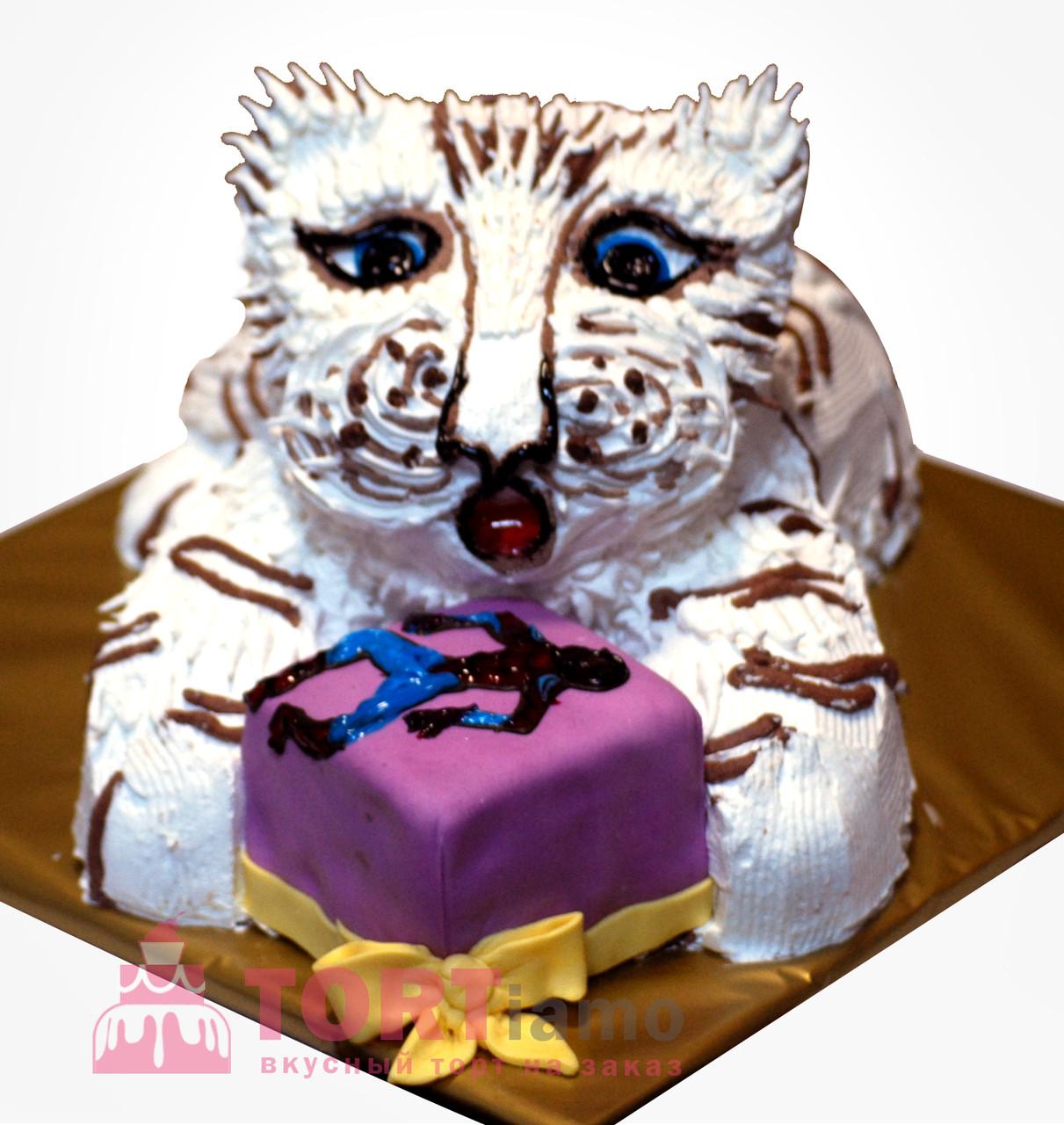 """Детский торт на заказ """"Белый львенок"""""""