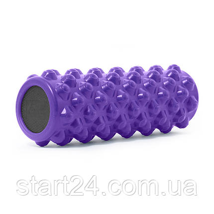 Ролик массажный профилированный ProSource Bullet Sports Medicine Roller 35,6x12,7см фиолетовый, фото 2