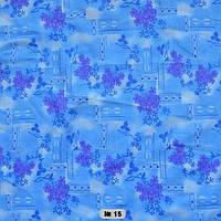 Тканина постільна донецький ситець-бузок  на синьому