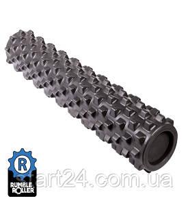 Ролик массажный RumbleRoller 56x14 чёрный , повышенная жесткость