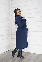 """Демисезонное женское кашемировое пальто """"ALLY"""" с карманами (большие размеры), фото 3"""