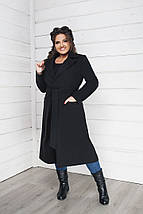 """Демисезонное женское кашемировое пальто """"ALLY"""" с карманами (большие размеры), фото 2"""