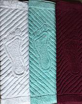 Коврик-полотенце для ног бирюзовый 50х70, фото 2