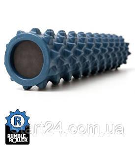Ролик массажный RumbleRoller 56x14 синий , повышенная жесткость