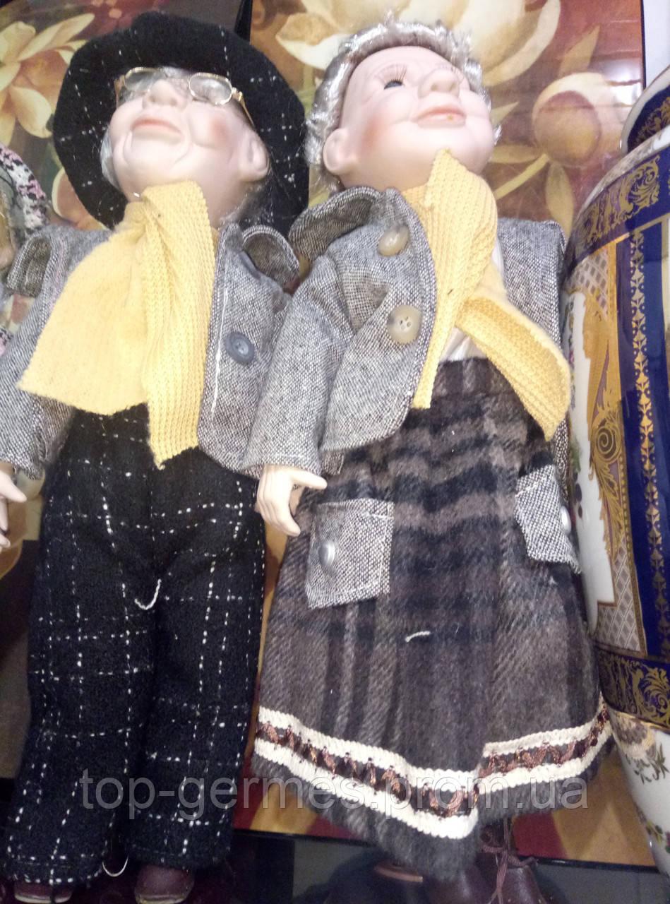 Фарфоровые коллекционные куклы дедушка с бабушкой